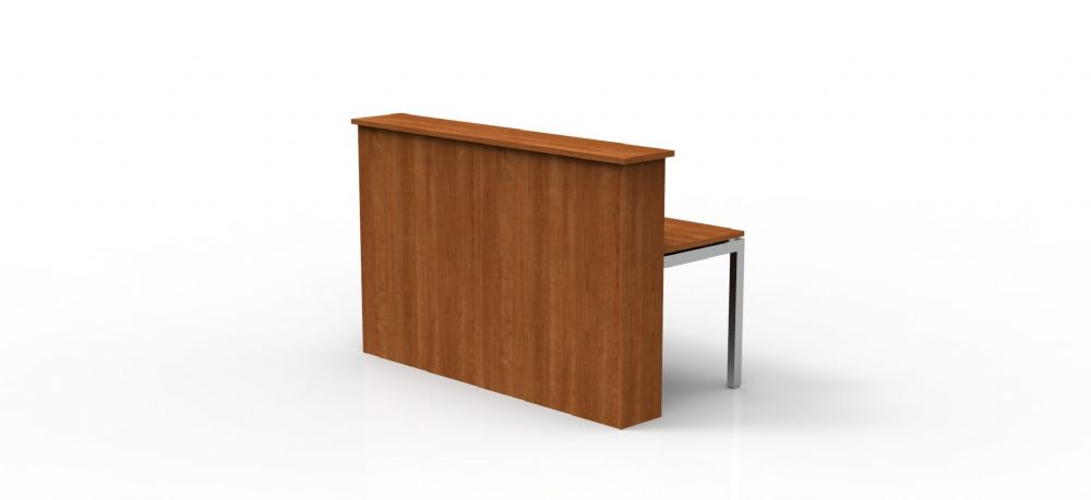 Single Rectangular Reception Counter, Full Modesty Panel, 825mm Deep, Choice of Finish